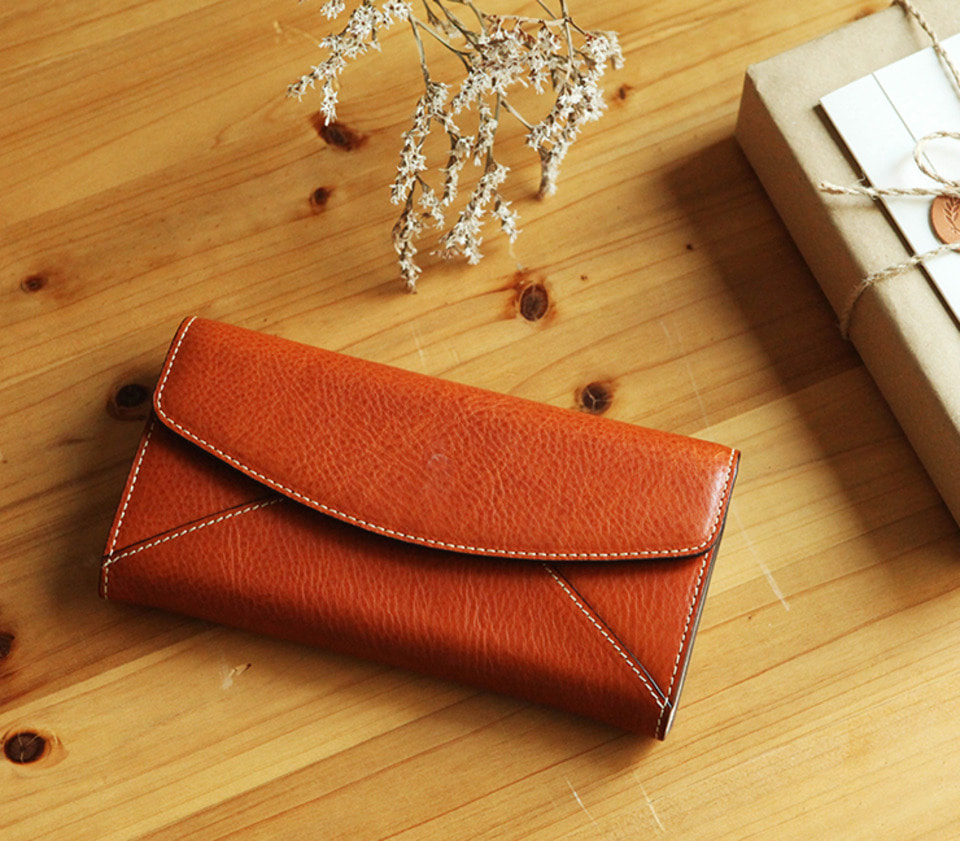 SH102 레터 타입 롱 월렛Leather Letter Long Wallet
