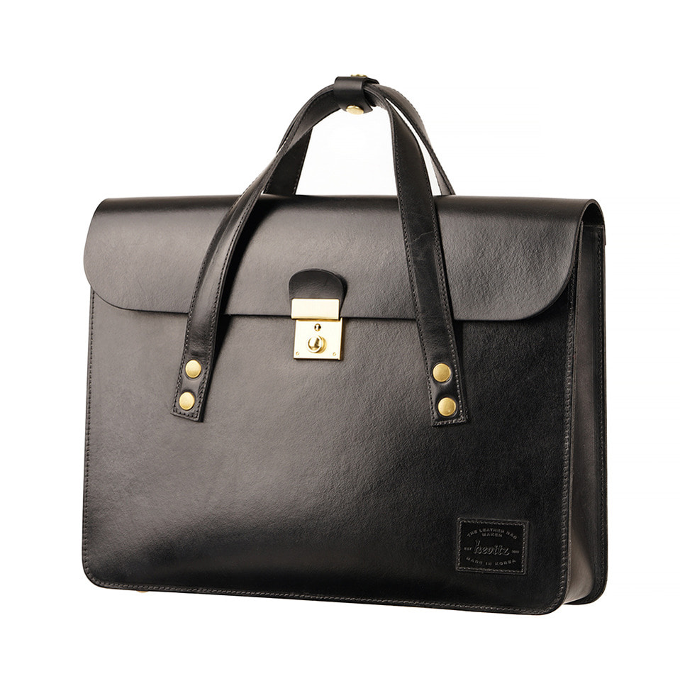 가죽공방 헤비츠 : Hevitz 304 briefcase : high button san doublure