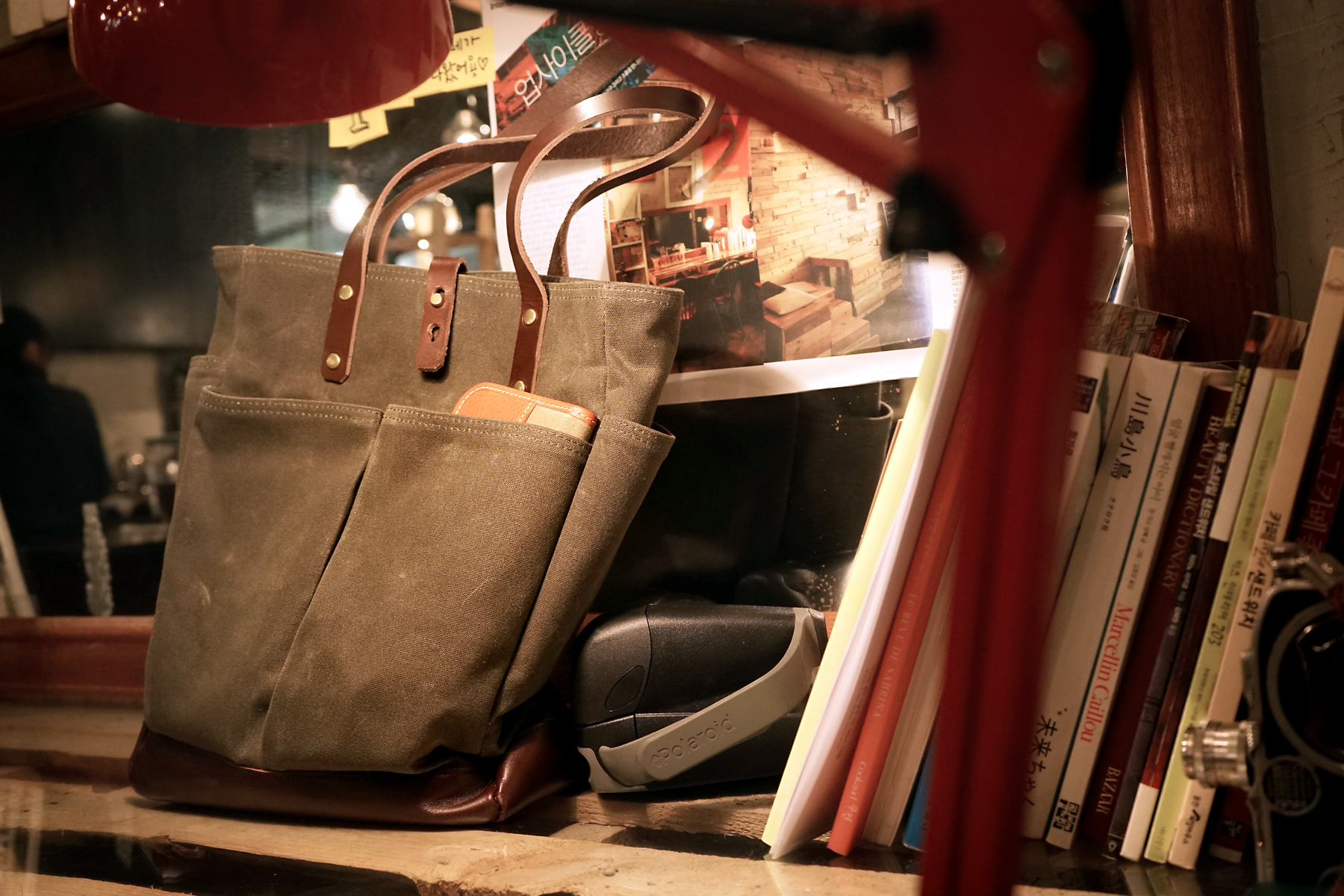 215 왁스캔버스 데일리토트백Waxed Canvas Daily Tote BagWaxed Canvas/Genuine Leather